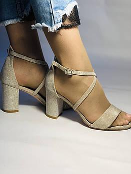 Высокое качество! Женские босоножки на среднем каблуке,с ремешком на щиколотке.35, 36,38,40.Vellena