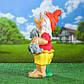 Садовый гном-девочка с собачкой 56 см гипс - садовый декор, фото 2