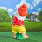 Садовый гном-девочка с собачкой 56 см гипс - садовый декор, фото 3