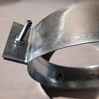 Хомут для крепления труб d 130 мм из оцинкованной стали, фото 1