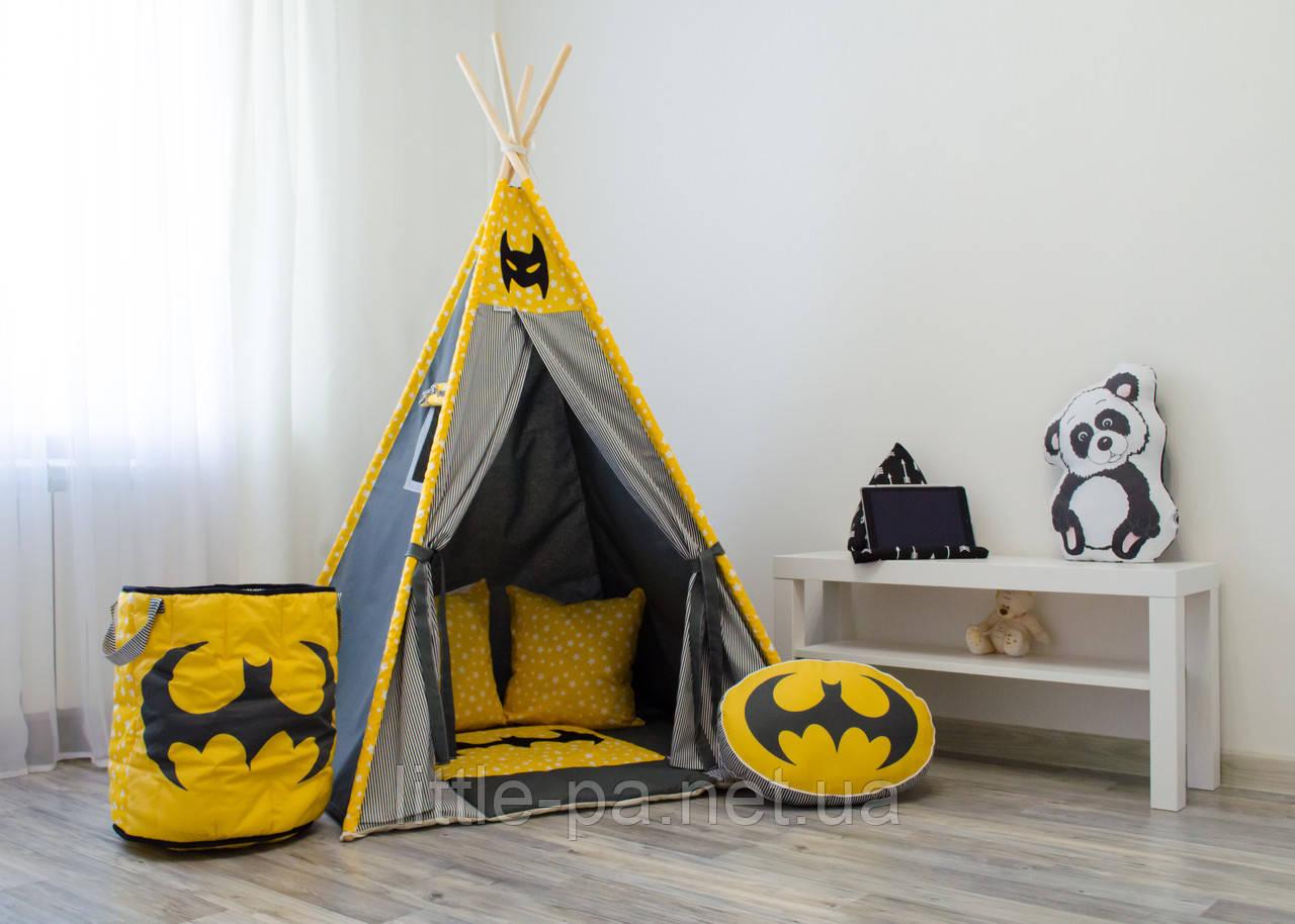 """Вигвам игровой детский """"Бэтмен"""" с ковриком"""