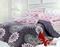 Полуторный комплект постельного белья с компаньоном из ранфорса фламинго R7048