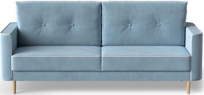 Диван раскладной (еврокнижка) Купер голубой - картинка