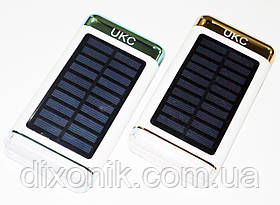 Солнечный Power Bank UKC 15000 mAh 3xUSB LED фонарь