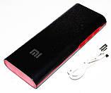 Повер банк Power Bank Mi 20000 mAh 3 USB LED-индикатор, фото 5