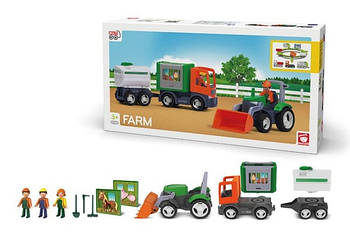 Игровой набор из abs пластика для мальчика от 3 лет Efko MULTIGO FARM BIG SET Набор фермер (27312)