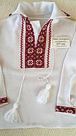 Сорочка вишита біла на домотканому полотні для хлопчика на 1-2 роки