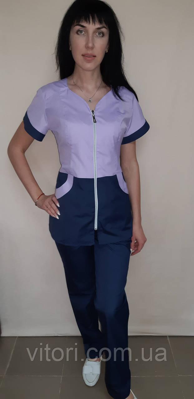 Топ женский рубашечная ткань короткий рукав