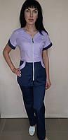 Топ женский рубашечная ткань короткий рукав, фото 1