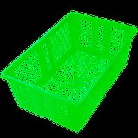 Ящик пластиковый перфорированный 350х235х130 салатовый