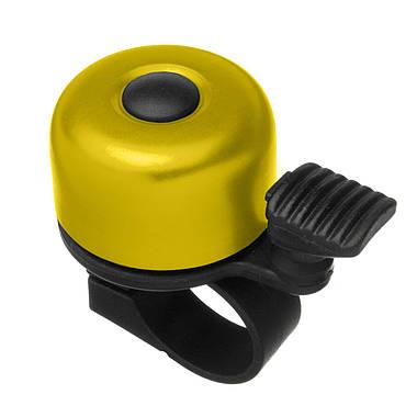 Дзвоник Green Cycle GBL-02A 35мм Yellow, фото 3