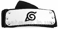 """Повязка (налобный протектор) Наруто с символикой """"Скрытый Лист"""" 88см - Naruto, cosplay"""