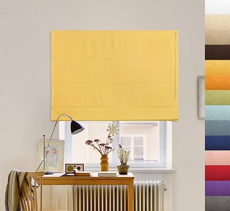 Римская штора Джуси Велюр желтый, фото 2