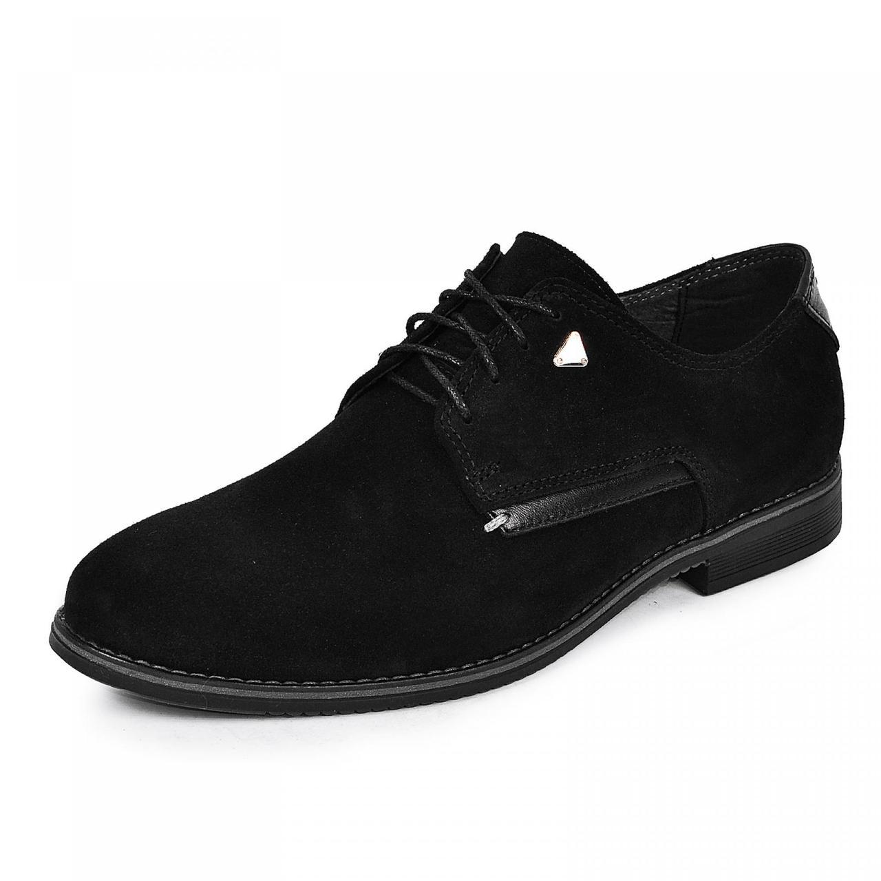 Чоловічі туфлі чорний натуральний замш великих розмірів р. 46 47 48 49