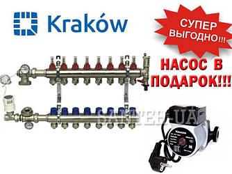 Коллектор для тёплого пола Krakow на 8 выходов (Польша)