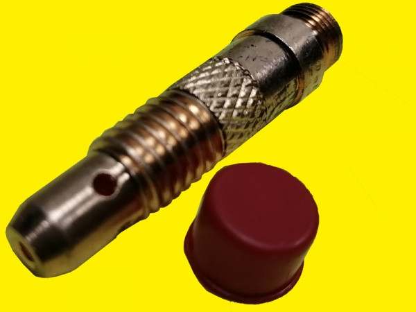 Корпус цанги для аргоновой горелки под прозрачное сопло для ТИГ сварки 2.4мм