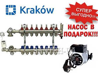 Коллектор для тёплого пола Krakow на 9 выходов (Польша)