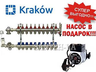 Коллектор для тёплого пола Krakow на 10 выходов (Польша)