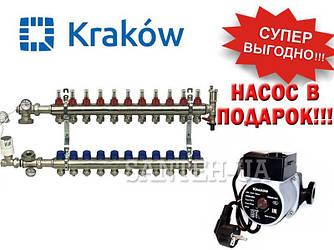 Коллектор для тёплого пола Krakow на 11 выходов (Польша)