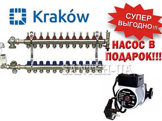 Коллектор для тёплого пола Krakow на 12 выходов (Польша)