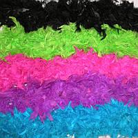 Боа из перьев 60 г Белое, голубое,красное, малиновое, розовое
