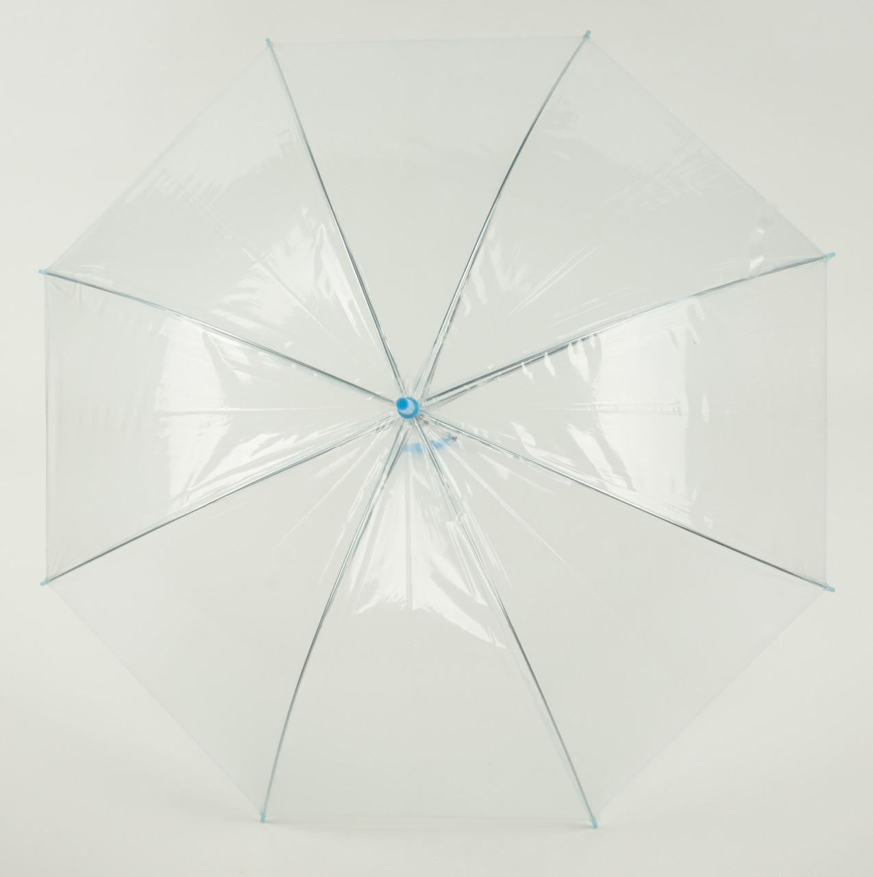 Яскравий дитячий механічний парасольку тростину з напівпрозорого матеріалу Feeling Rain art. 055