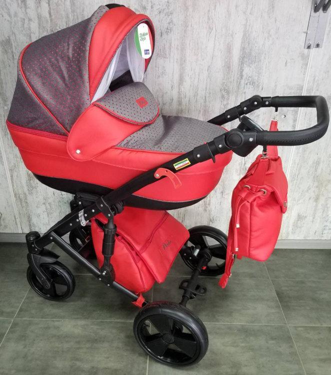 Дитяча універсальна коляска 2 в 1 червона POLO