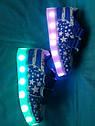 Кроссовки детские унисекс с LED подсветкой и кабелем USB Размер 29, фото 2