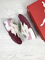 Кроссовки Puma Trinomic, бордовые с розовым, 36р. по стельке - 22,5см