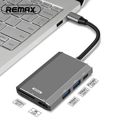 Переходник HUB Адаптер Remax 6 in1 RU-U30, фото 2