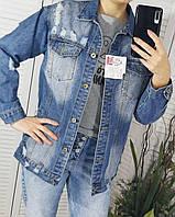 Джинсовая куртка удлиненная 44-46 размеры, фото 1