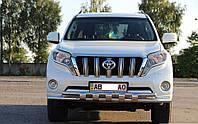 Защита переднего бампера, (5 клыков) Toyota Prado 150