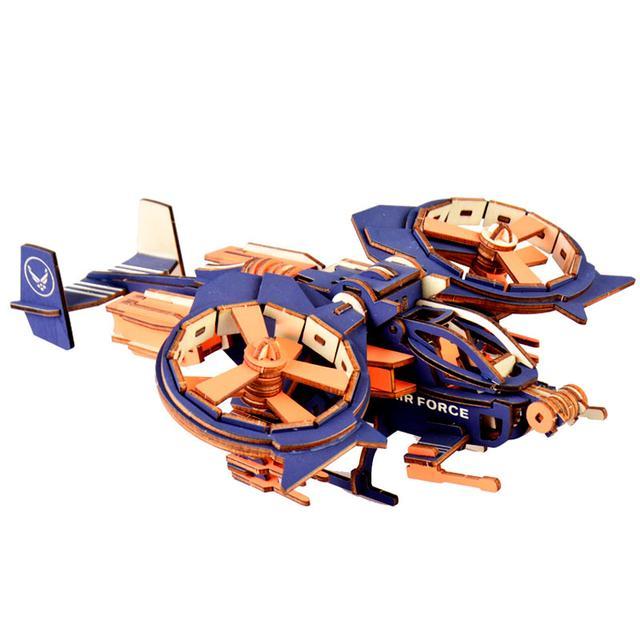 Деревянный пазл вертолет