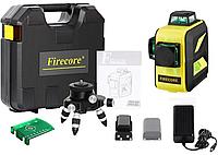 Лазерный уровень/нивелир Firecore F93T XG в кейсе 3D с зелёными лучами