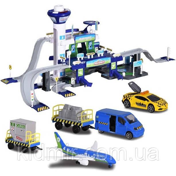 Игровой набор Креатикс Аэропорт с 5 машинками Majorette 2050018