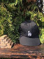 Бейсболка - LA (Чёрная с белым значком), фото 1