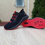 Жіночі кросівки Puma Hybrid (чорно-червоні) 20077, фото 5