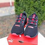 Жіночі кросівки Puma Hybrid (чорно-червоні) 20077, фото 7