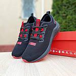 Жіночі кросівки Puma Hybrid (чорно-червоні) 20077, фото 6