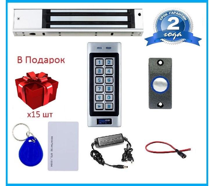 Комплект контроля доступа с магнитным замком для металлической двери SEVEN KA-7803