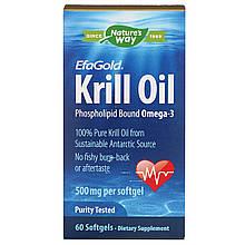 "Масло кріля nature's Way, EfaGold ""Krill Oil"" 500 мг (60 капсул)"
