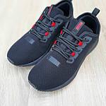 Чоловічі кросівки Puma Hybrid (чорно-червоні) 10090, фото 7