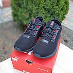 Мужские кроссовки Puma Hybrid (черно-красные) 10090, фото 5