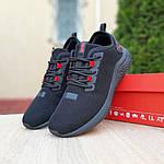 Чоловічі кросівки Puma Hybrid (чорно-червоні) 10090, фото 9
