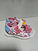 Детские босоножки на девочку 25-16.5 открытые спорт бабочки, фото 1