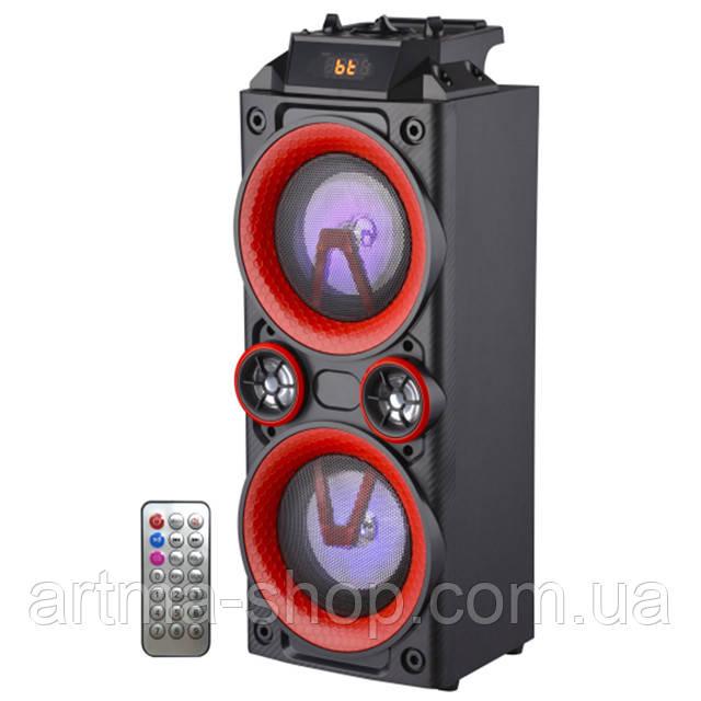 Портативная акустическая система c микрофоном AiLiang 5802 колонка Чёрная Ватт X-BASS USB, Радио, Bluetooth