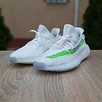 Жіночі кросівки Adidas Yeezy Boost 350 V2 (біло-зелені) 20079, фото 6
