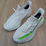 Жіночі кросівки Adidas Yeezy Boost 350 V2 (біло-зелені) 20079, фото 8