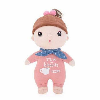 Мягкая игрушка тканевая кукла для девочки Metoys Kawaii Pink-Blue 30 см Розовая с голубым (51181)