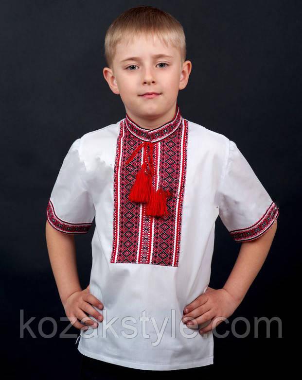 Вишиванка з коротким рукавом на хлопчика